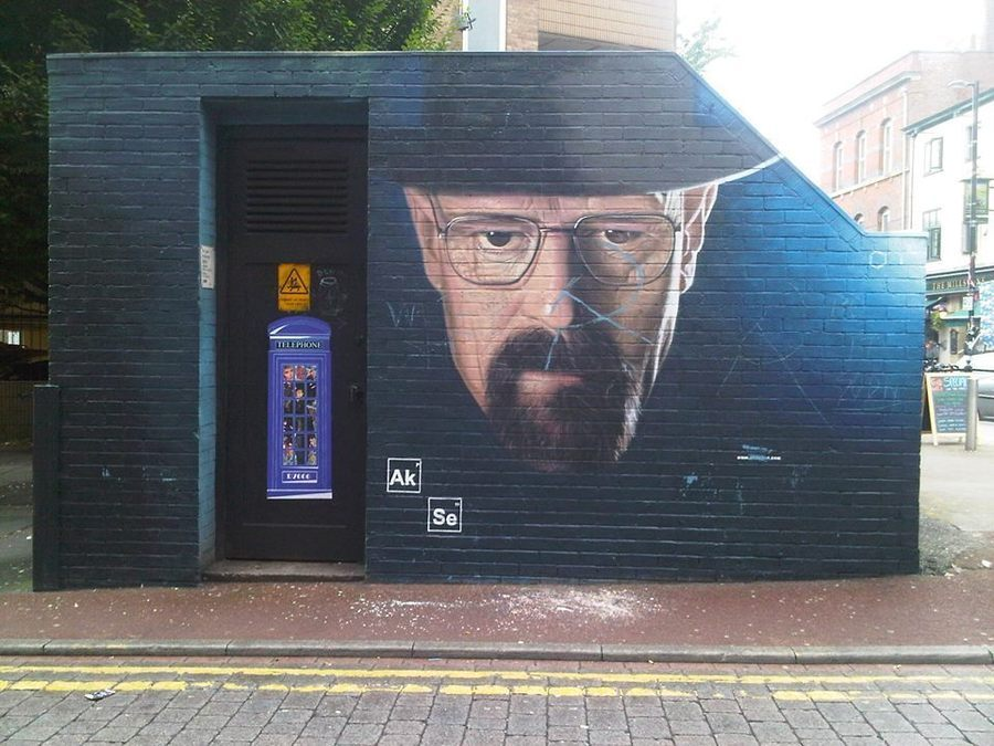 Walter White Breaking Bad, in Manchester by Akse